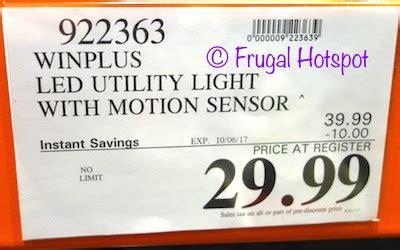 winplus led utility light costco sale winplus motion sensor led utility light 29