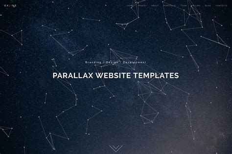 free html5 parallax scrolling template 22 minimal html5 css3 parallax website templates 2018