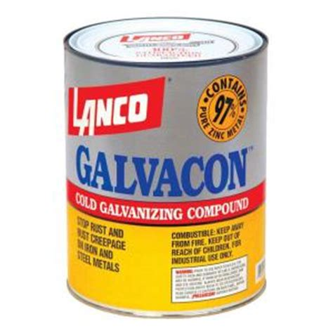 oil based spray paint dipping lanco galvacon 1 qt oil based gray cold galvanizing