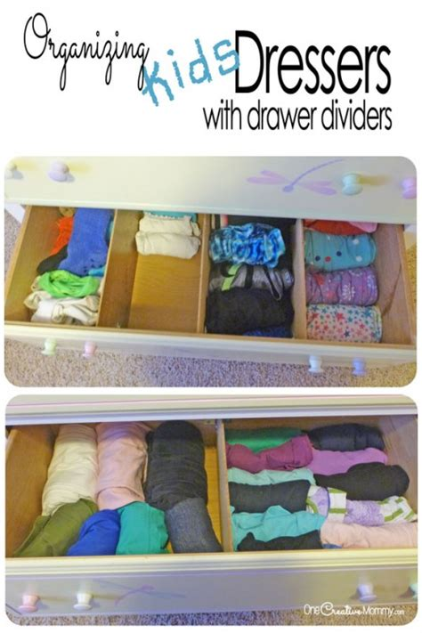 how to organize clothes without a dresser organizing kids drawers with dividers onecreativemommy com