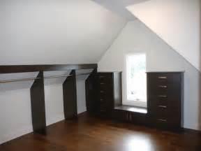 walk in closet w slanted ceiling contemporary closet