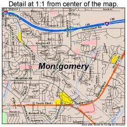 where is montgomery on a map montgomery alabama map 0151000