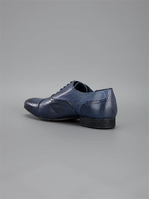 blue oxford shoes roberto cavalli laceup oxford shoe in blue for lyst