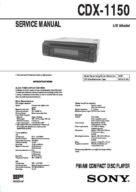 sony cdx 1150 wiring diagram wiring diagram gw micro