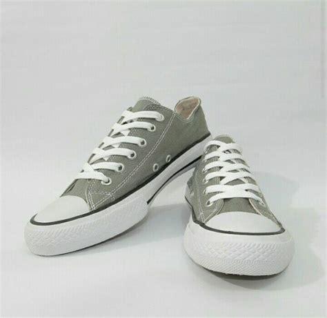 Sepatu Santai Sekolah Anak Converse 36 44 Unisex jual sepatu converse abu abu gray grade original