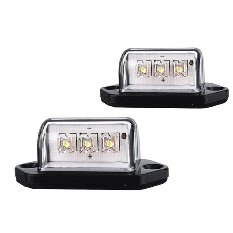 license plate light assembly 1 pair 12v 3leds number licence plate light rear tail l