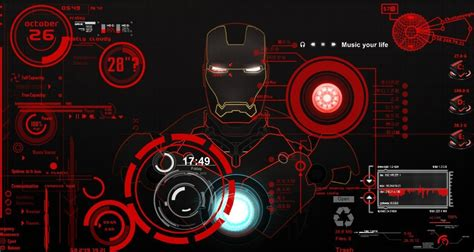themes voice mobile iron man the computer theme desktop of tony stark s jarvis