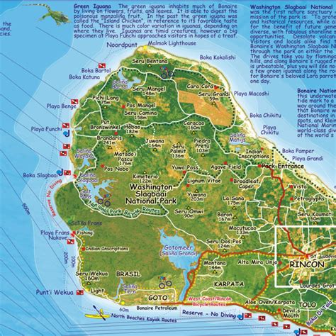 bonaire map bonaire guide map franko s fabulous maps of favorite places frankosmaps