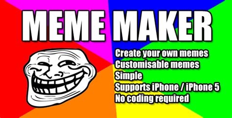Make Your Own Memes App - mobile meme maker codecanyon