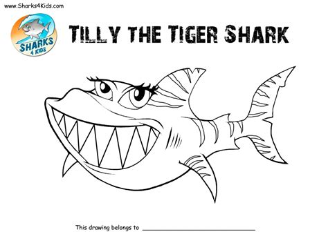 tiger shark coloring page get this tiger shark coloring pages 41267