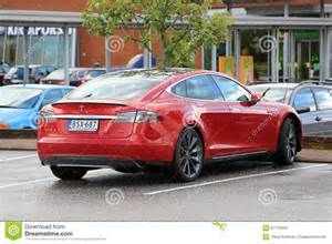 Electric Car Similar To Tesla Tesla Model S P85d Electric Car Parked Editorial Stock