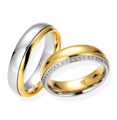 Eheringe Platin Gelbgold by Eheringe Aus Platin Und Wei 223 Gold Bei Juwelier Spinner