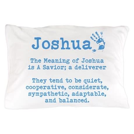 Meaning Of Pillow by The Meaning Of Joshua Pillow By Itsallinthename