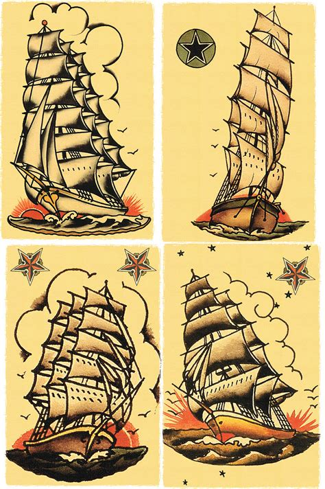 tattoo flash nautical few different ideas for the traditional ship tattoos