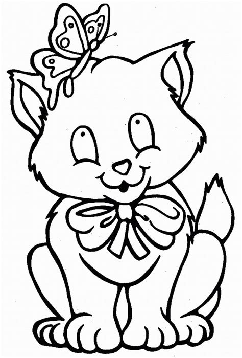 Kitty Cat Coloring Pages Free Printable Pictures Cat Coloring Pages For Free