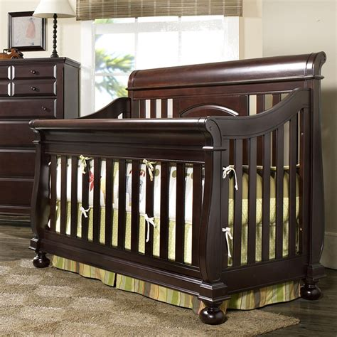 Sleigh Convertible Crib Creations Summer S Evening Convertible Sleigh Crib Espresso I Would To Get New Nursery