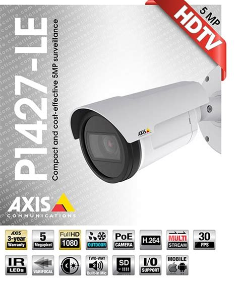 Axis Network P1427 Le axis communications ip cameras certified montreal