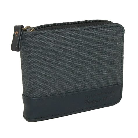 Zip Around Canvas Wallet mens field and rfid protected canvas zip around