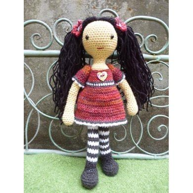 design doll error emily doll crochet pattern by moji moji design knitting