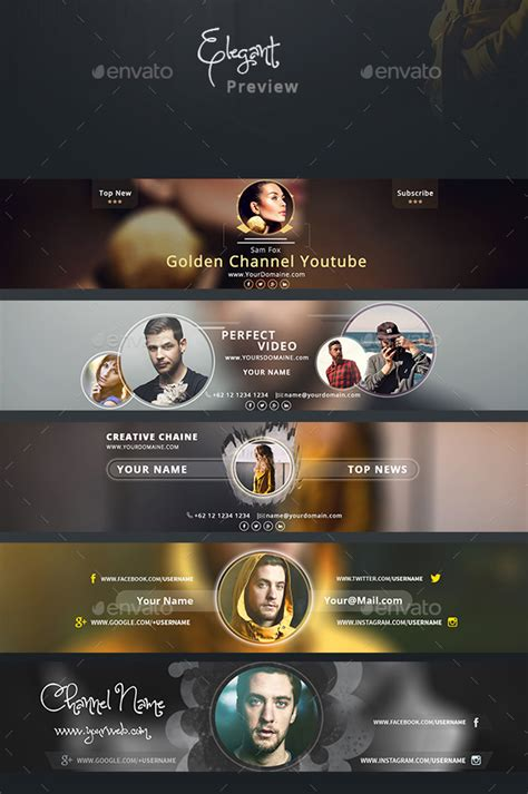 channel template psd 35 amazing free banner templates psd