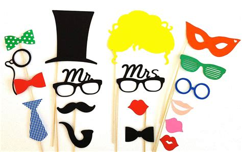 design photo booth props creative wedding ideas from etsy mr and mrs decor colorful