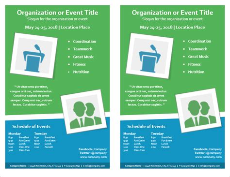 Event Flyer Template For Word Event Flyer Template