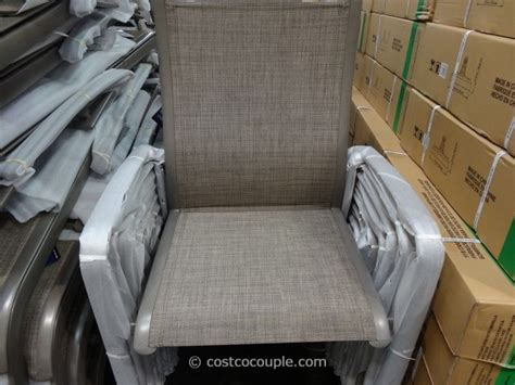 patio chairs costco patio chairs costco agio international 7 sling dining