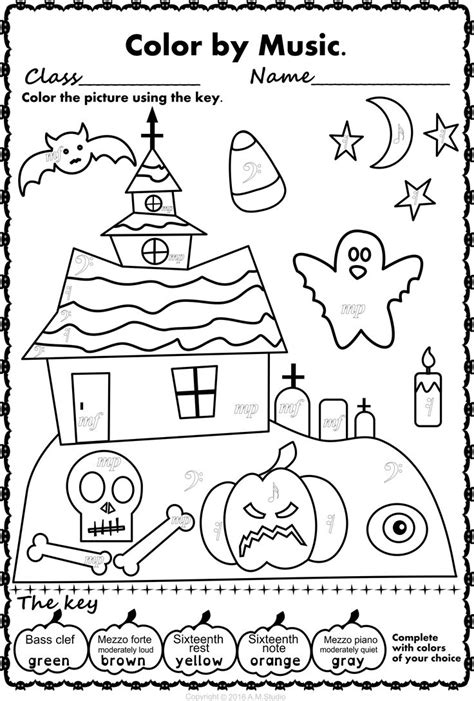 halloween coloring pages music 14 best halloween music activities images on pinterest