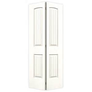 2 Panel Bifold Closet Doors Shop Reliabilt No Frame 2 Panel Top Plank Hollow Smooth Molded Composite Bifold