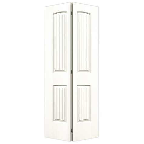 Jeld Wen Closet Doors Shop Jeld Wen Santa Fe White Hollow Molded Composite Bi Fold Closet Interior Door With