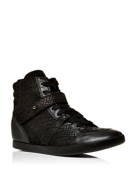 Wedges Amara moda in pelle amara wedge lace up trainers in black lyst