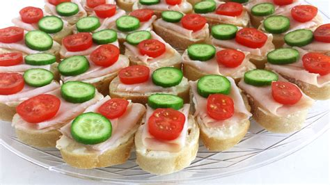 how to canapes smoked turkey canapes valya s taste of home