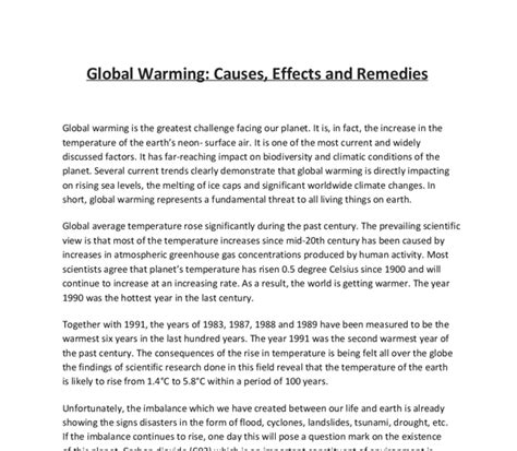 Global Warming Debate Essay by Exle Of Argumentative Essay On Global Warming