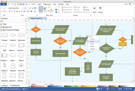 flowchart software visio flowchart alternative to microsoft visio for mac