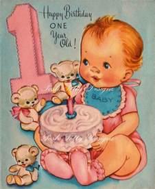 happy birthday one year vintage digital printable images 368 ℙᎾuℛ ℒℰℕᎯ