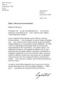 Lettre De Motivation Ecole Jeux Lettre De Recommandation 201 Cole Mod 232 Le De Lettre
