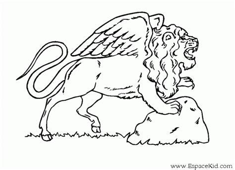Dessin de lion 195 colorier