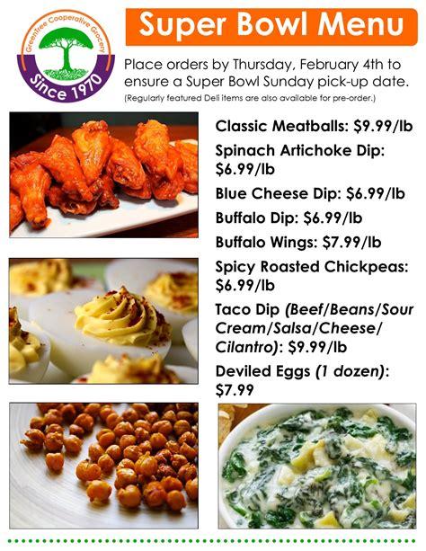 super bowl catering menu