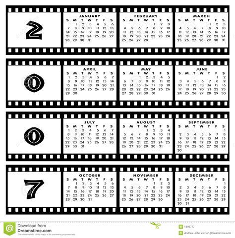 Z Calendario 2007 Calendar 2007 With Frame Royalty Free Stock