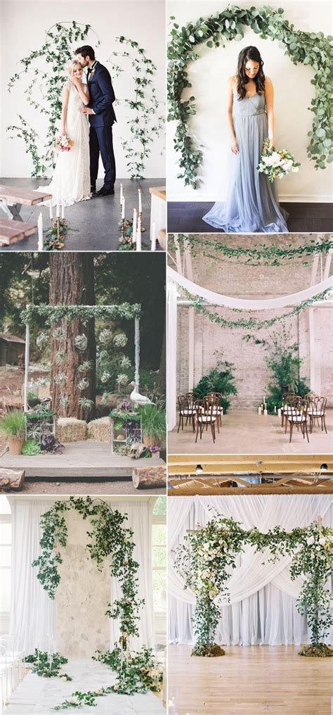 Wedding Backdrop Greenery by 60 Amazing Greenery Wedding Details For Your Big Day 2017