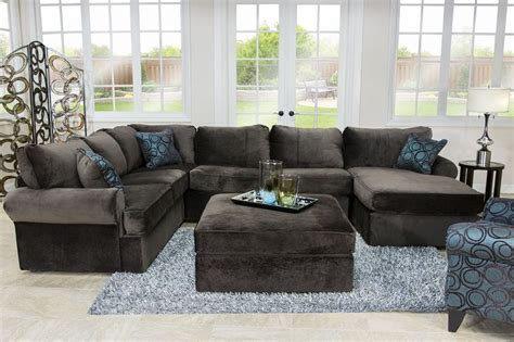 Sectional Sofas For Less Napa Chocolate Right Facing Sectional Sectionals Living Room Mor Furniture For Less
