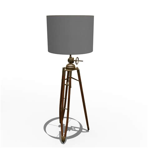 Yellow Room Tripod Lamp Design And Decorate Your Room In 3d