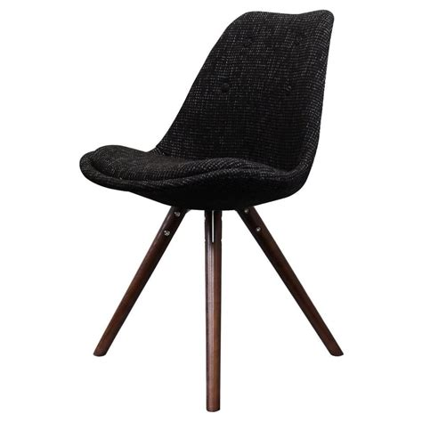 black wood dining chairs uk eiffel inspired black fabric dining chair with pyramid