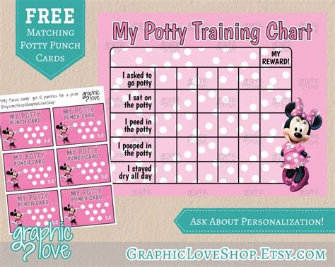 minnie mouse printable reward charts 17 best images about potty time on pinterest toddler