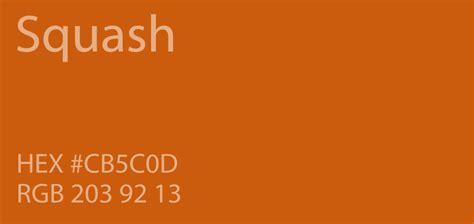 what color is squash 24 shades of orange color palette graf1x