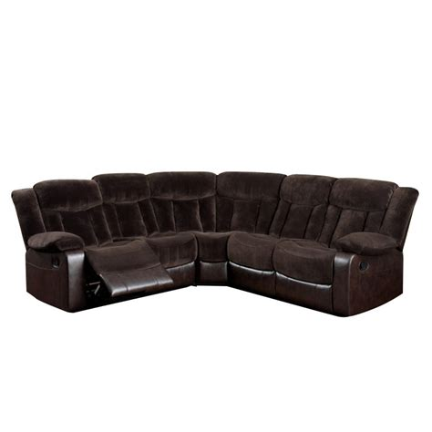 furniture of america voitise fabric reclining sectional in