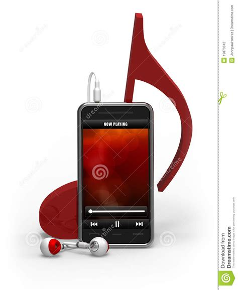 iplayer mobile smartphone player mobile note stock illustration
