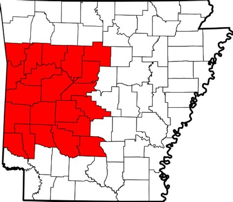 united states map showing arkansas file map of arkansas highlighting western arkansas svg
