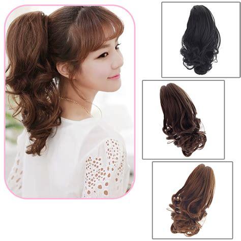 hair extensions curvy wavy clip pony in fashion claw pony ponytail clip in on hair extension curly
