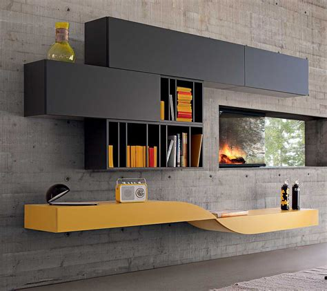 Gray Modern Sofa Intralatin Contemporary Modular Wall Unit From Roche Bobois